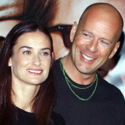 Demi Moore Bruce Willis Bruce Willis Concentrates on Demi Moore and Upsets His Wife