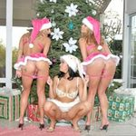 Dee, Nikki & Marlie Moore in We Live Together video - Candy Cane Coochie | Reality Kings