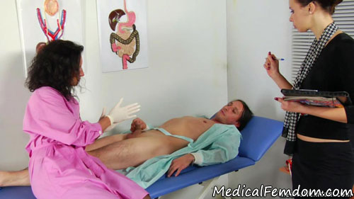 Two medical femdom bitches ready for milking