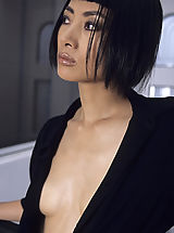 Small Breast, Sexy Bai Ling nipple slips while at wild hot party