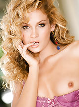 Small Breast, Prinzzess's pouty, pursed lips and piercing hazel eyes will grab and entirely dominate your attention to the point that you might almost miss her slow strip of her purple lingerie!