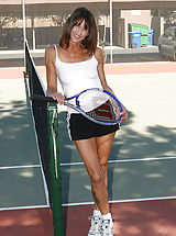 Small Breast, Athletic and mature Rose works her pussy out after playing tennis