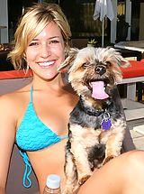 Tiny Bikini, Kristin Cavallari showing huge cleavage in bikini