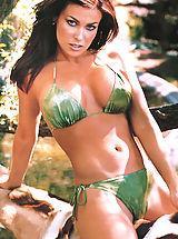Tiny Bikini, Hot Carmen Electra shows her adorable hard nipples