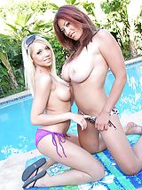 Tiny Bikini, Two Horny Housewives swapping cocks