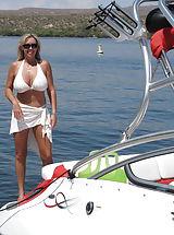 Tiny Bikini, Horny Wifey in boat sex