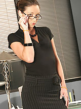 Secretary, Sexy Jordana at the office fucking at work