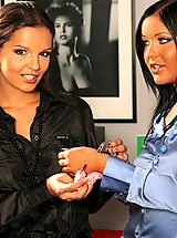 Secretary, Kinky office hyjinks are soon underway when Eve Angel and Angelica Heart stay late to play their favorite lesbian love games.