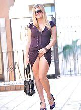 Secretary, Danielle plays in her new dress