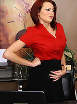 Secretary, Jessica Robbin has to fuck her boss so she can keep her job and not get in trouble.