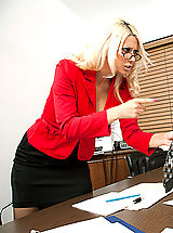 Secretary, Jazy Berlin takes out her frustrations on a coworker by fucking him doggystyle.