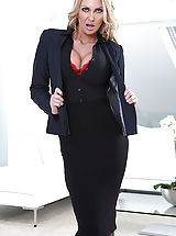 Secretary, Leigh Darby is Danny D's busty boss, and she's a real hard case. When she fires her assistant for spilling a drink, there's a new job opening at the office, and both Danny and his coworker Chris want the position. Chris shows off his winning attitude and