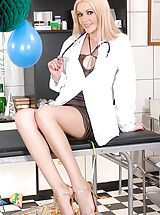 Secretary, Eve Angel and Logan sexy doctors playing at New Year's Eve!