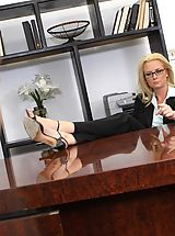 Secretary, Sexy Milf boss getting it on with her employee