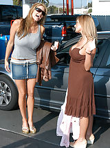 Secretary, Kelly and Kate wash there cars before a intimate 3-some with Ryan.