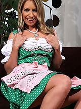 Secretary, Hot Samantha Scott is a crazy Alp Girl!