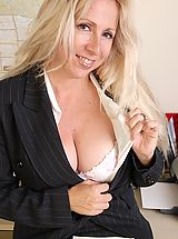 Secretary, Heather gets naked after work!