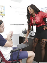 Secretary, Diamond Jackson , Kyle Mason , Enormous Tits , Black , Black Hair , Blowjob , Bubble Butt , College Class , Creampie , Table , Artificial Funbags , High Heels , Interracial , Mature , Piercings , Professor , Stockings , Breast Fucking , Trimmed , My First