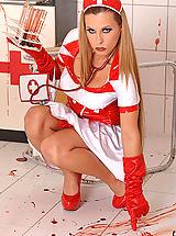 Secretary, Nurse Crams Both Holes With Bloody Test Tubes