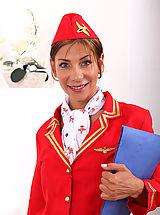 Secretary, Air hostess Horny rachel toys with sex balls and pisses
