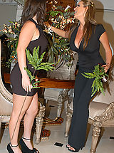 Secretary, Kelly Madison and Whitney Stevens