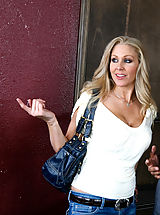 Secretary, Julia Ann is pissed at her step son so she kicks him out so she can screw his associate.
