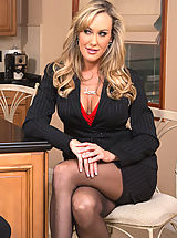 Secretary, Brandi Love knows how to get a younger guy to fuck her with his big dick.