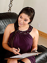 Secretary, Busty asian london keyes seduces a married man