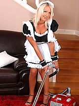 Secretary, Hungarian maid vacuums her beautiful tits
