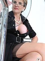 Secretary, Nylons and panties mature bosses