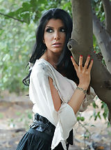 Secretary, Romi Rain can't seem to escape, she's running through the woods, but the night watchman is on her trail. By using his pussy eating abilities, and cock in her mouth, she finally gives in.