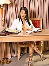 Secretary, Asian Women nancy ho 04 bigtits secretary
