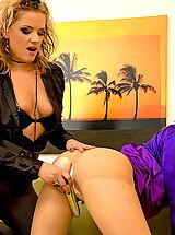 Secretary, Inserting a purple toy into her girlfriends moist cooch