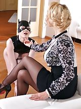 Secretary, Dominatrix Gives Submissive Lots of Spanking, Part 1
