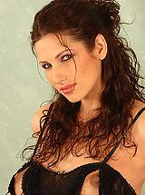 Big Nipples, Pregnant MILF Yvete stuffs a purple dildo into her hairy love box