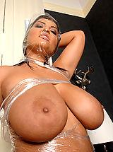Big Nipples, Busty Jasmine Black's kinky masturbation with toy