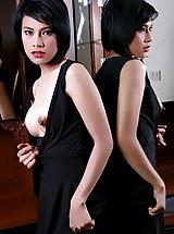 Big Nipples, Unclothed Asian Whore Wanda Tai A06 Hard Nipples Diamon Pussy Lips