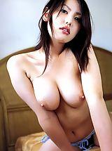 Big Nipples, Takako Kitahara in Cute gravure idol taking it all off and showing her perky boobs