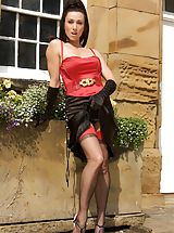 Up Skirt, Miss Hybrid Seamed Stockings