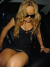 Upskirt, Mariah Carey in hot bikini doing a sexy photoshoot on a yacht
