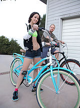 Public Nudity, A quick bike ride around the block gets Belle Knox in the mood for some other cardio activities, once back at the house the exercise turns into a great fuck!