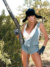 Public Nudity, Kelly had been searching wabbits in her very brief overalls and white tank.