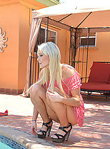 Sexy Legs, Zoey Paige chooses to hop within the pool naked along with her friends brother and then they bang inside.