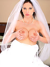 Sexy Legs, Amazing hot ass mindy main sucks a hard cock and get cumfaced on the day of her wedding as bride in bridal lingerie
