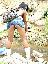 Sexy Legs, Asian Women sharon 04 fishing puffy nipples