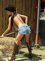 Sexy Legs, Anastasia 02 cowgirl wet tshirt big pussy boots