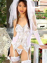 Lingerie, Asian Women annie bae 04 bride garter belt stocking bridal lingerie