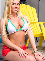 Micro Bikini, Christie Stevens chooses to bang her neighbor when the opportunity presents itself.