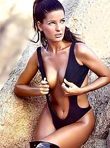 Micro Bikini, Oops Nude Celebrity Alessia Merz in swimsuit