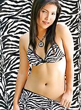 Micro Bikini, Cathy Rawan 04, Zebra Bikini Lady Spreads Her Pussy Lips